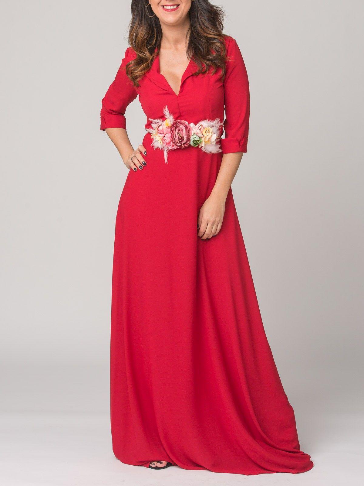 221d09df6 Vestido Funes Rojo - Vestido largo