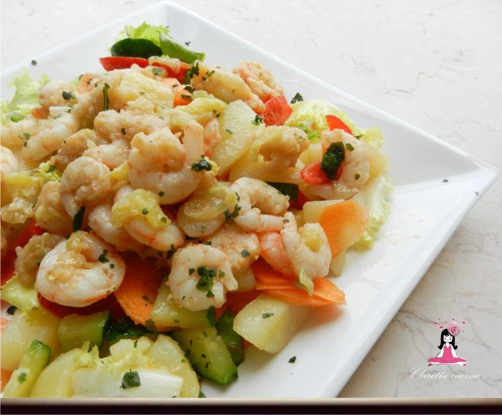 Ricette Estive Di Pesce.Insalata Con Gamberetti Ricetta Di Pesce Ricette Cibo Etnico Ricette Estive