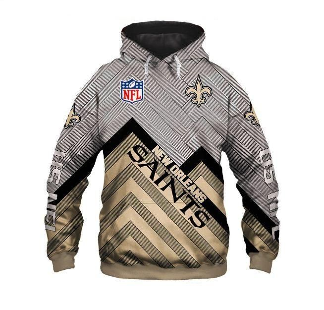 the latest ca3b2 33d07 Cheapest NFL Hoodies 3D Men New Orleans Saints Hoodies ...