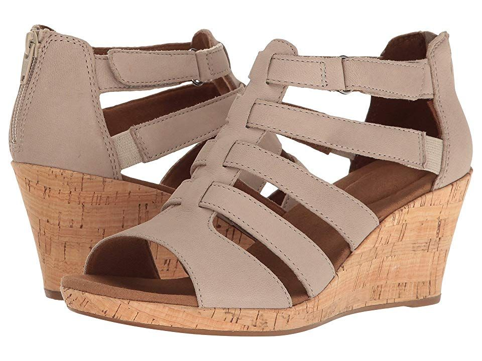 4d43d680b055 Rockport Briah Gladiator (New Taupe Nubuck) Women s Shoes. Get your summer  outfits ready