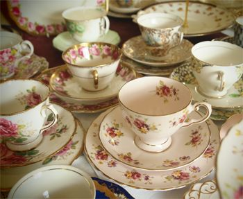 Hire Vintage china for High Tea baby shower