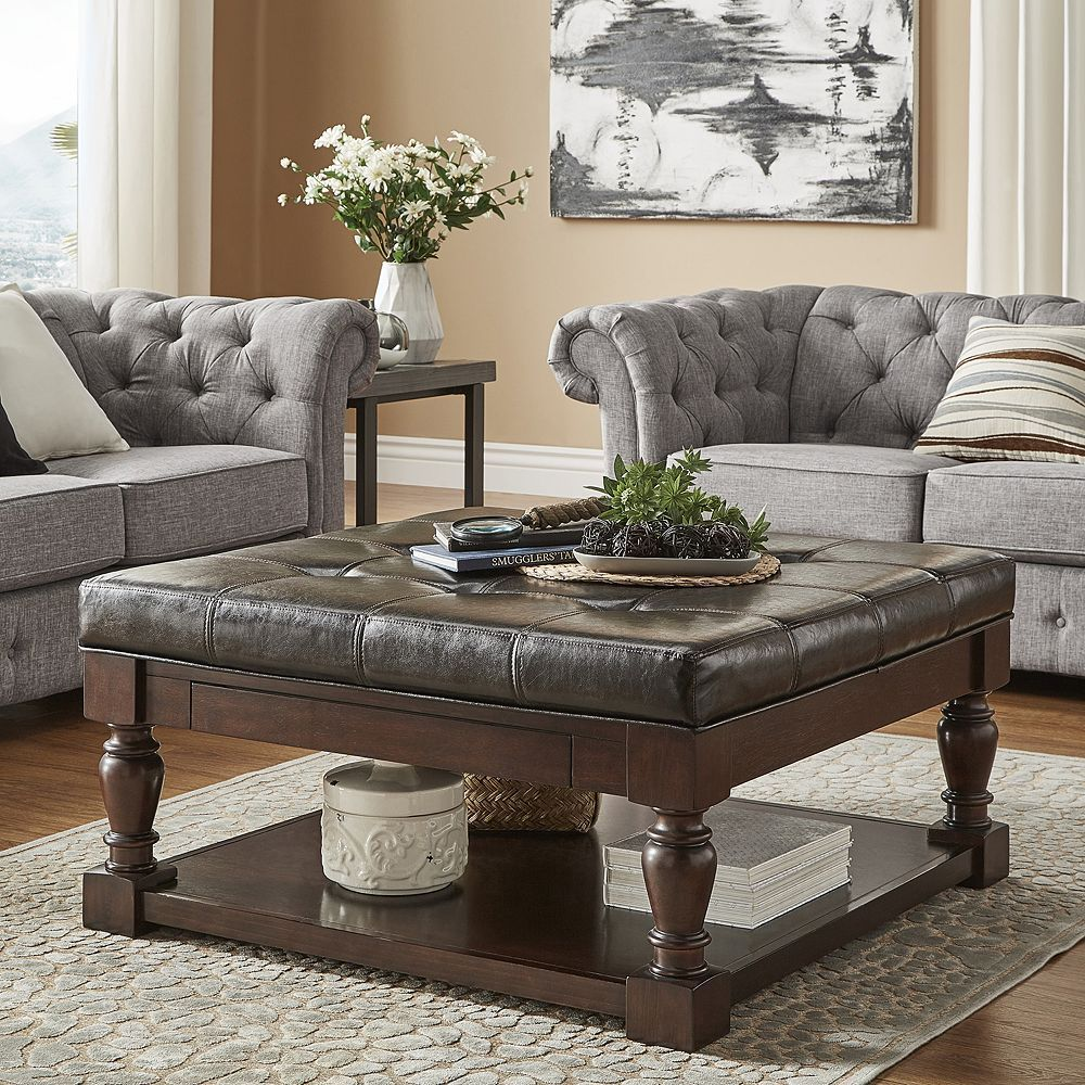38+ Tufted coffee table with shelf inspirations