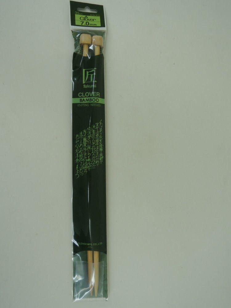 Agujas de bambú 7 - 8 y 9 mm