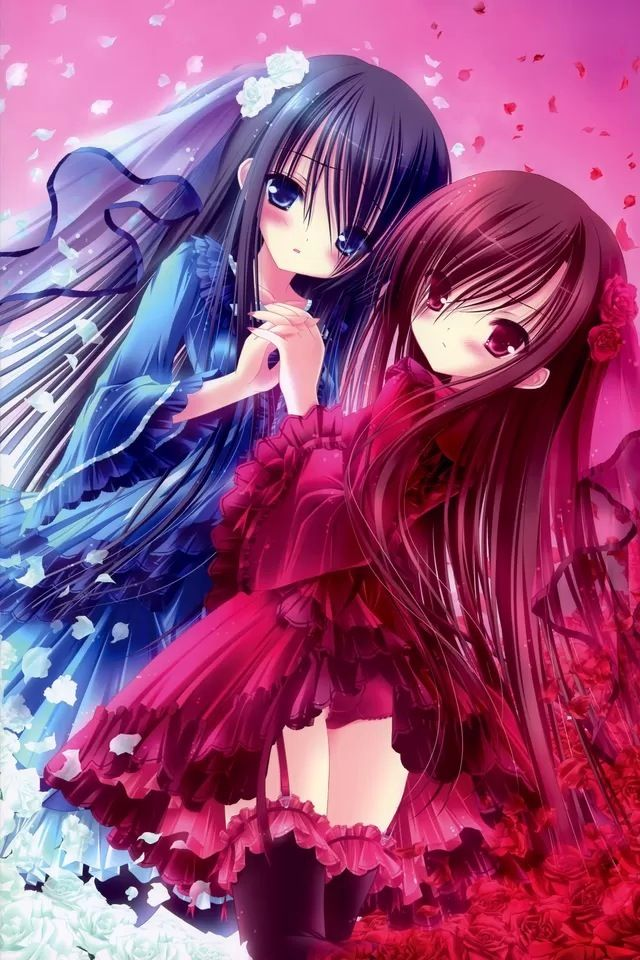 Red And Blue Double Girl Iphone 4s Wallpaper Http Www Ilikewallpaper Net Iphone Wallpaper Keep It Blue Anime Anime Wallpaper Iphone Cool Anime Pictures Cute anime wallpaper for iphone 4