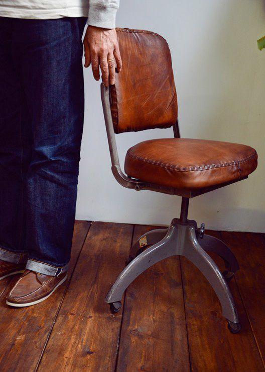 Hand Stitched Leather Furniture Mobilier De Salon Fauteuil Bureau