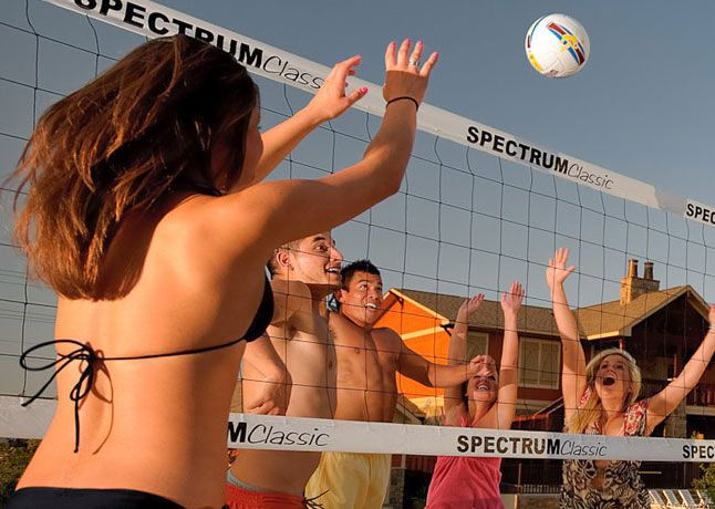 Sand Volleyball The Retreat S Full Size Beach Volleyball Court Is The Perfect Place To Challenge Your Neighbors To A Match And Sh Texas State University Craftsman Style Beach Volleyball
