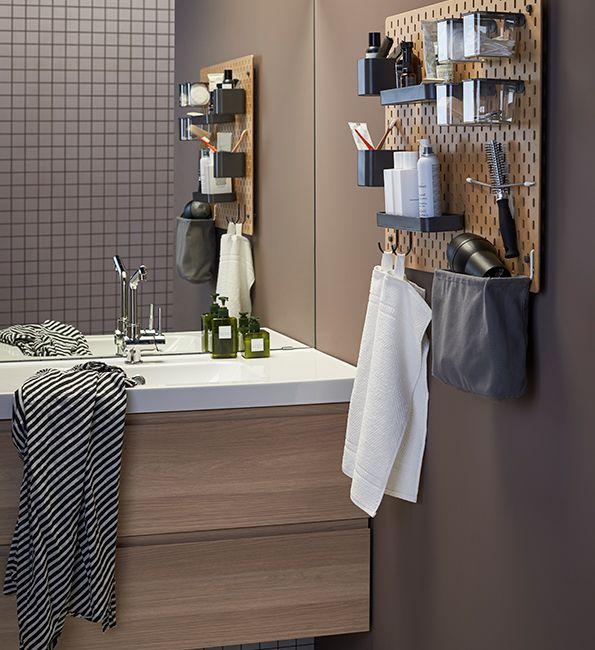 Pegboard: ideaal om je badkameraccessoires op te ruimen | IKEA ...