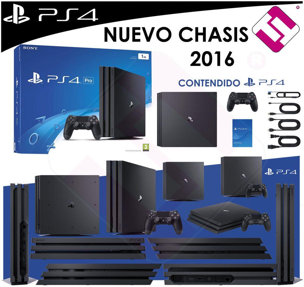 Detalles De Videoconsola Sony Ps4 Playstation 4 1tb Consola Negra