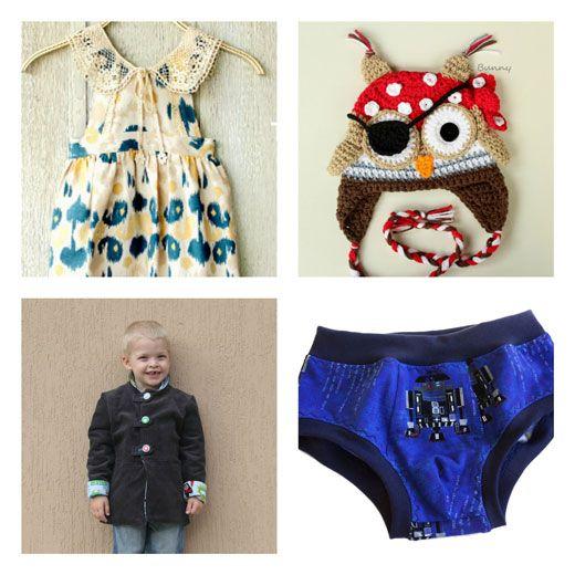 Fabulous Friday Finds at Handmade Kids  #australianhandmade #handmadekids #owlbeanie #crochetbeanie #girlspinafore #pinafore #boysbriefs