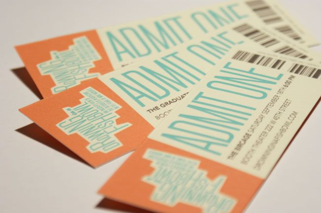 Drowning in a Fishbowl - Vessel The Selected Works of Adam - how to design a ticket for an event