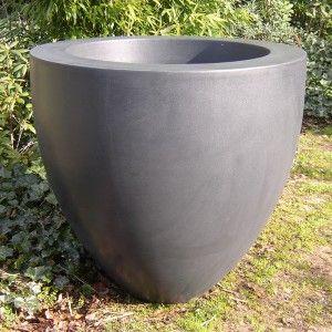 Lightweight Fibreglass Garden Planter Canna Tapered Vase Grey Garden  Planters, Garden Trees, Fiberglass Planters