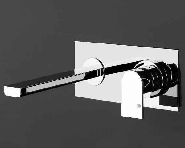 Gessi rubinetto bagno miscelatore lavabo a parete via manzoni cromo 13297 38689 basin mixer - Rubinetto a parete bagno ...