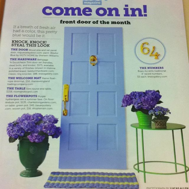 Love This Front Door Color Blissful Blue By Hgtv Home Sherwin Williams Front Door Colors Decor Color Schemes Front Door