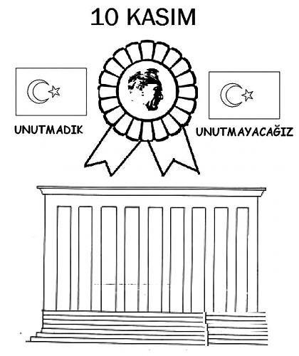 10 Kasim Ataturk Haftasi Kaliplari Okul Boyama Sayfalari Alfabe Boyama Sayfalari