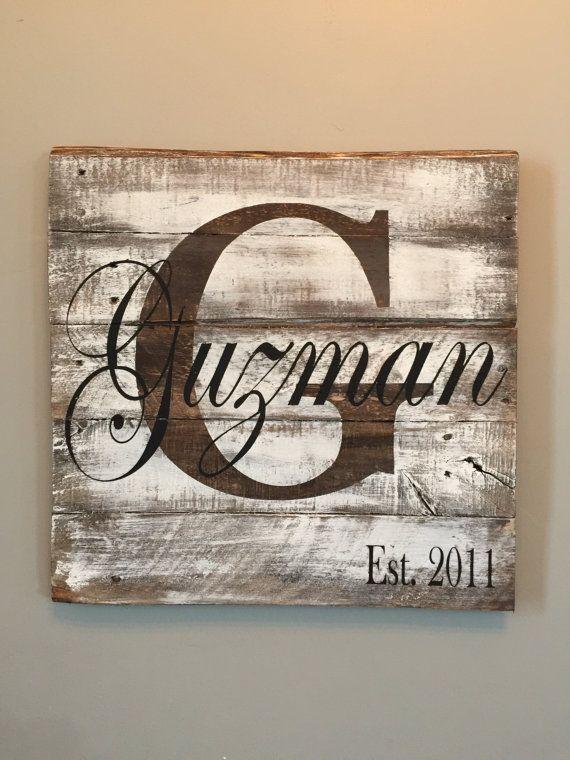 Last Name Sign Wedding Sign Established Sign Monogram Sign Etsy Diy Wood Signs Monogram Signs Rustic Signs