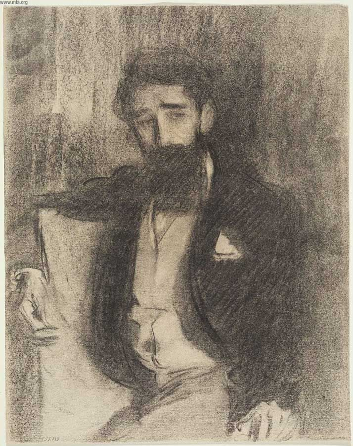 Sketch of Paul Helleu, John Singer Sargent Windy Poplars Room: Photo