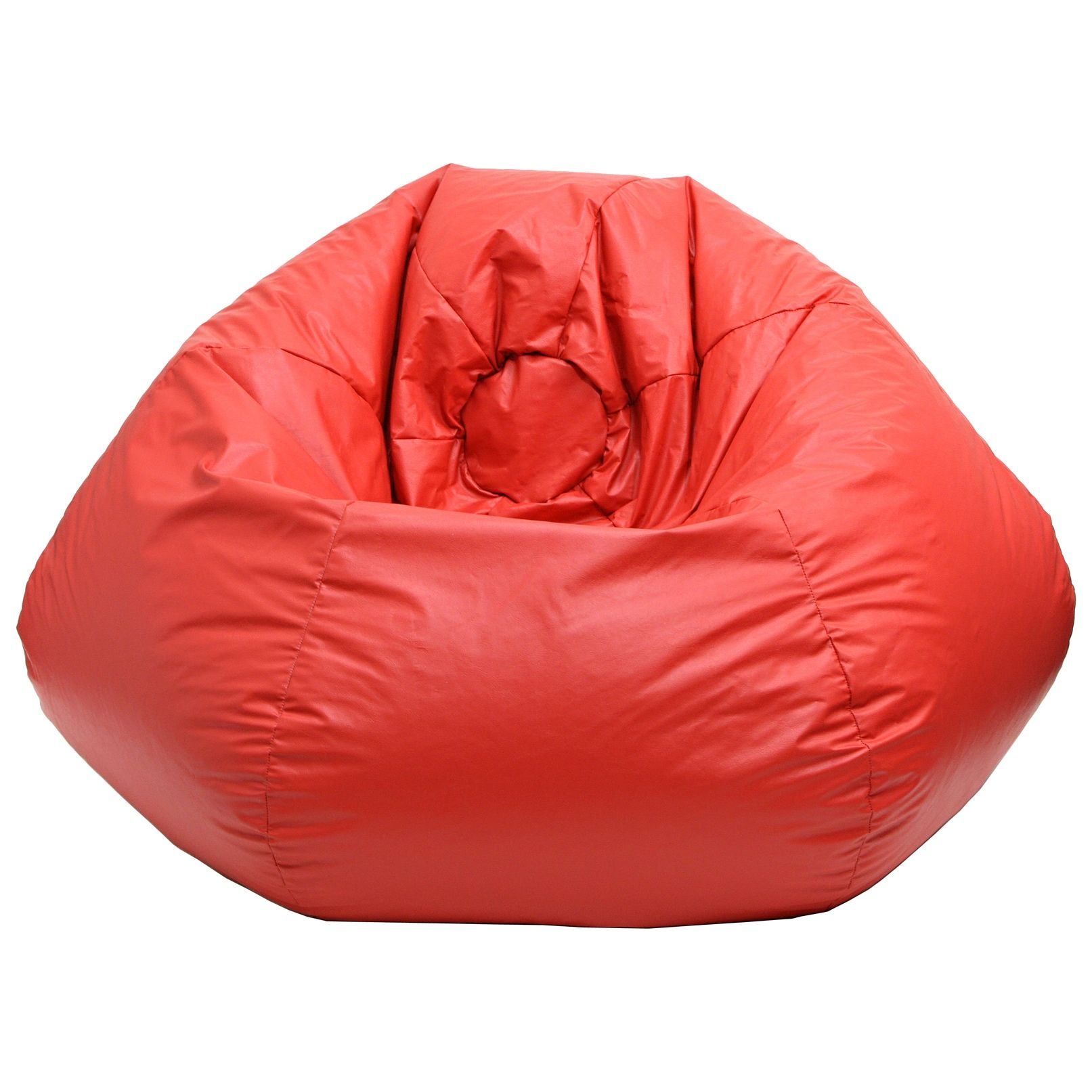 Gold Medal Red Small Toddler Leather Look Vinyl Bean Bag
