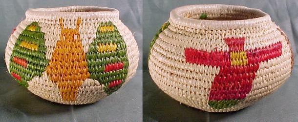 Wounaan Embera Butterfly Indian Basket-Panama #3711