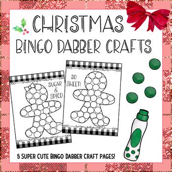Christmas Bingo Dauber Activities 5 Christmas Craftivities Christmas Bingo Christmas Craftivity Bingo Dauber