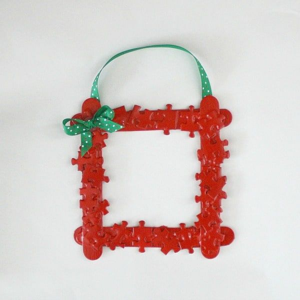 Homemade Christmas Ornaments: Puzzle Piece Frame | Homemade ...