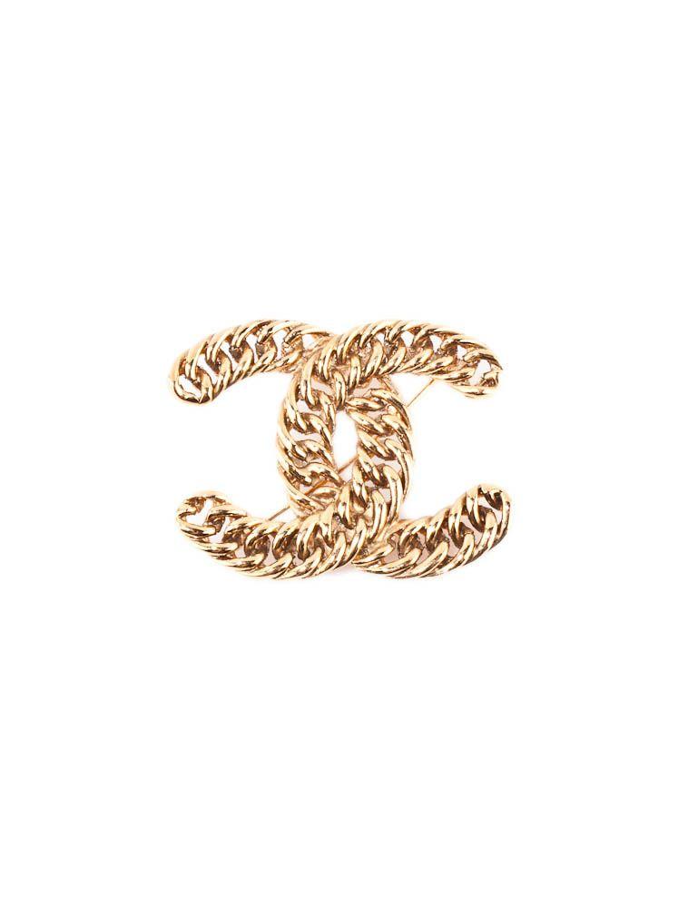Chanel Gold Brooch.