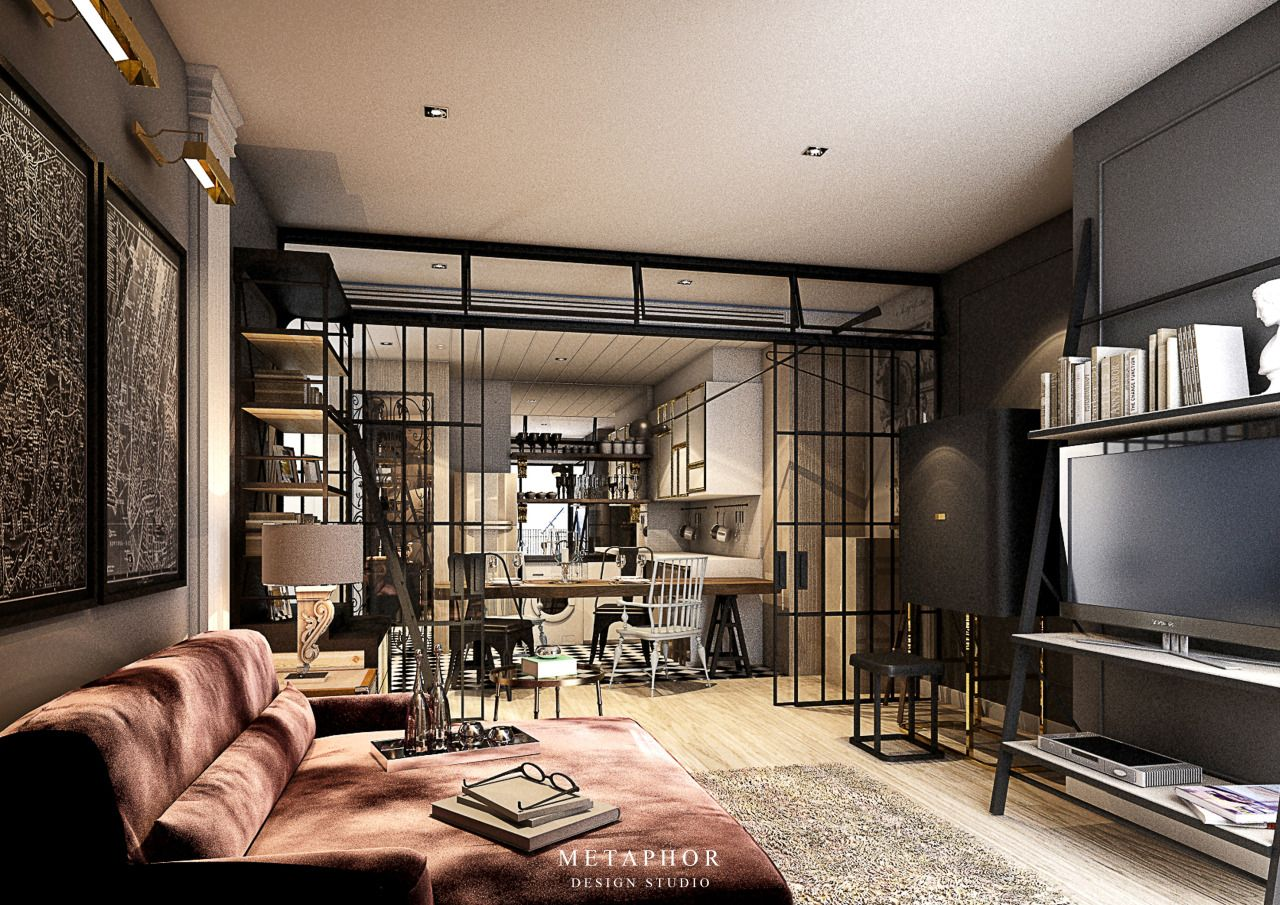 The sophisticated traveler private residence location bangkok thailand scope of work conceptual design interior design and props stylish area 80 sq m