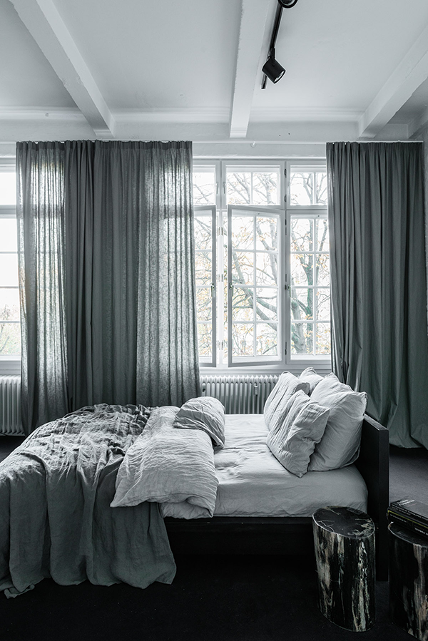 my) unfinished home | Large curtains, Gray bedroom and Bedrooms