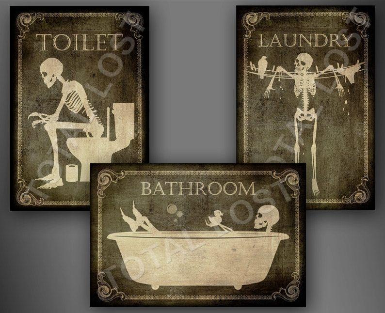 Bathroom Sign Halloween door signs of your choice,toilet, bathroom,laundry,bedroom,horror