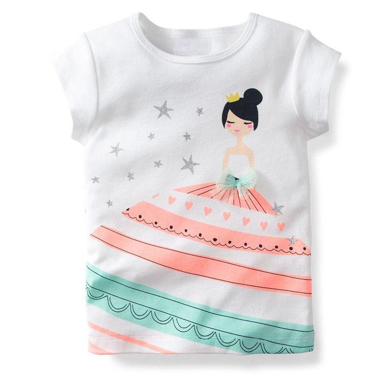 Aliexpress.com: Comprar 1 10 años niñas camiseta de la muchacha de ...