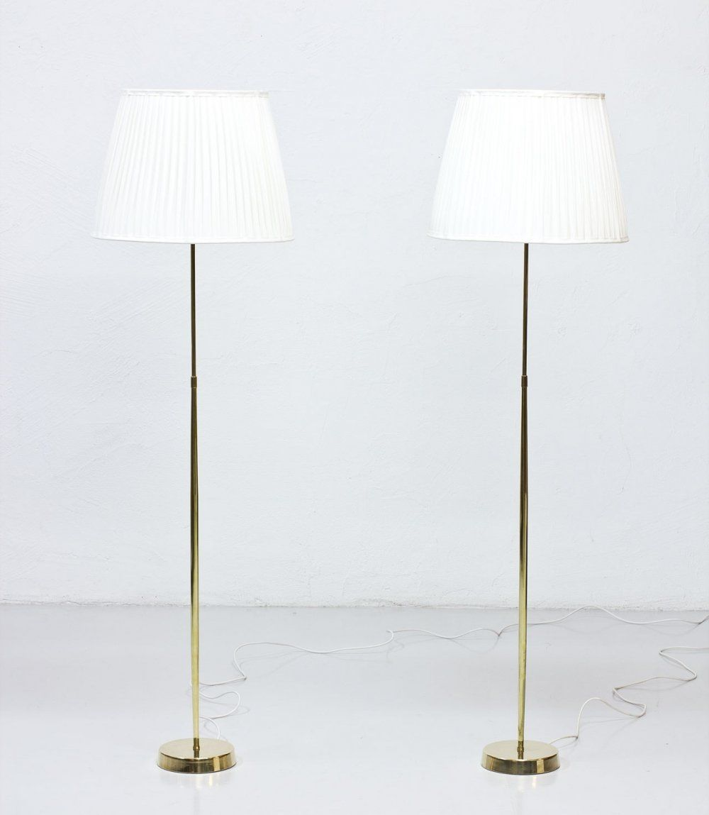 For Sale Pair Of Swedish Brass Floor Lamps By Asea 1950s In 2020