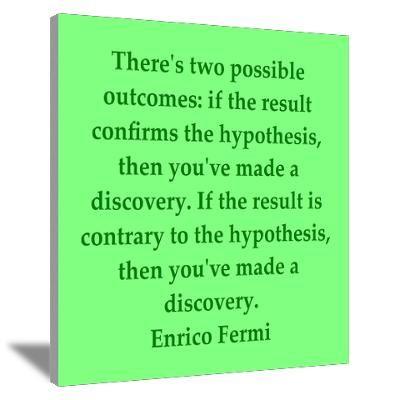 Enrico Fermi quotes Canvas Art