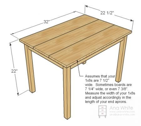 Clara Table Diy Kids Table Kids Furniture Plans Kids Table And
