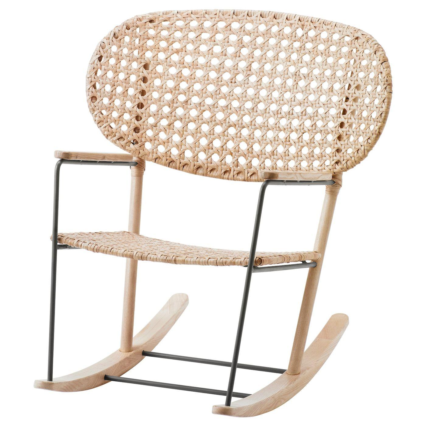 Grönadal Keinutuoli Harmaa Luonnonvärinen Ikea Ikea Finds Rocking Chair Ikea Living Room Furniture