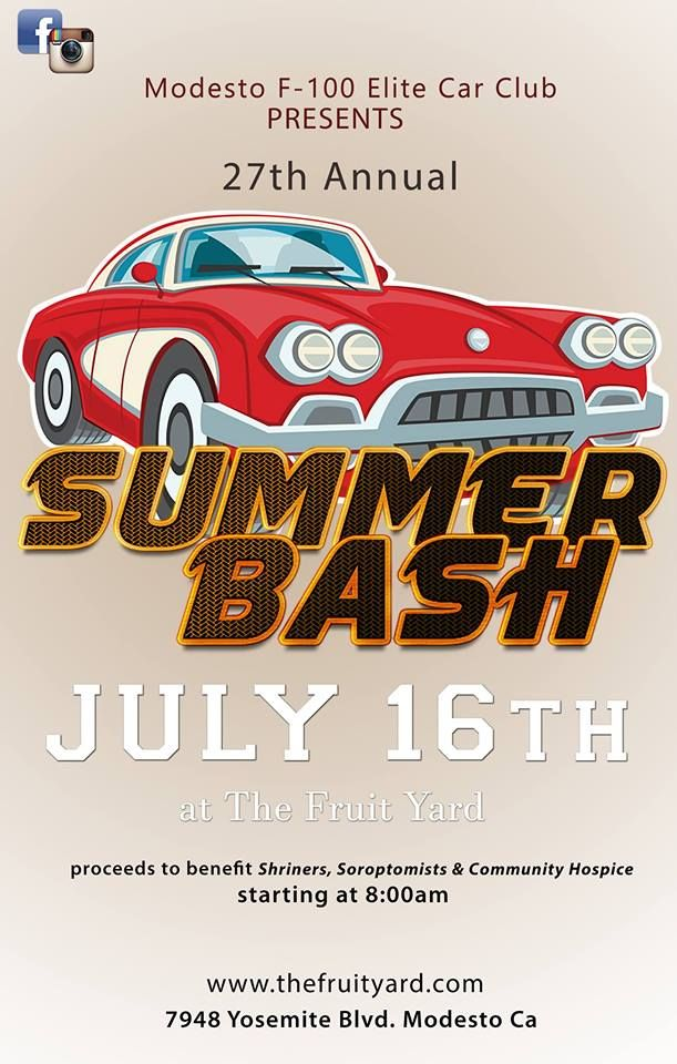 Summer Bash Car Show Modesto Summer Bash Car Show Open To All Makes - Fruit yard car show