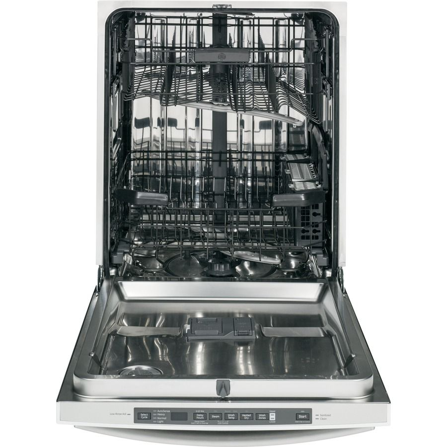 Shop Ge 48 Decibel Built In Dishwasher With Hard Food Disposer And Stainless Steel Tub Stainles Steel Tub Built In Dishwasher Top Control Dishwasher