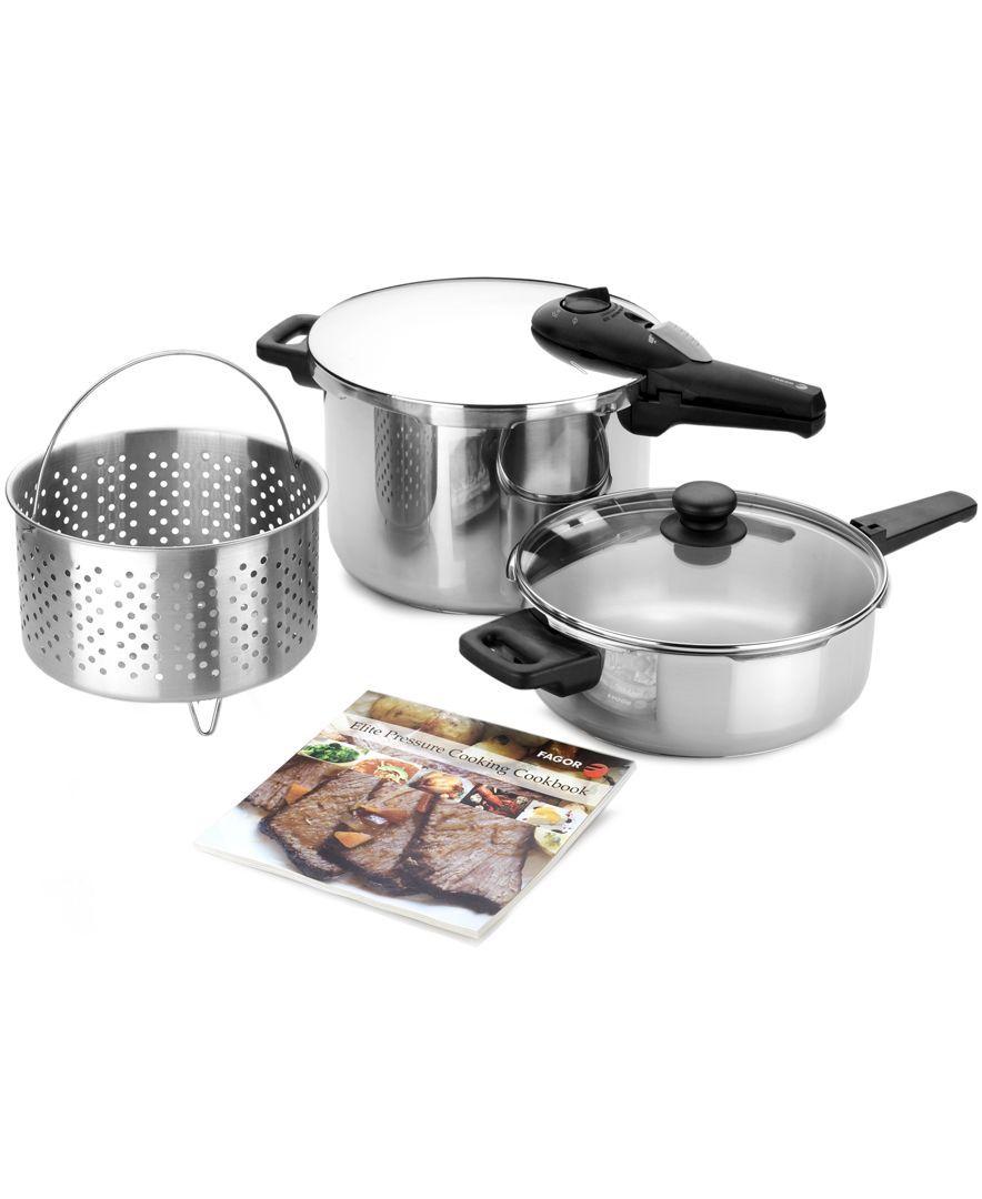 Fagor elite piece pressure cooker set cookware kitchen