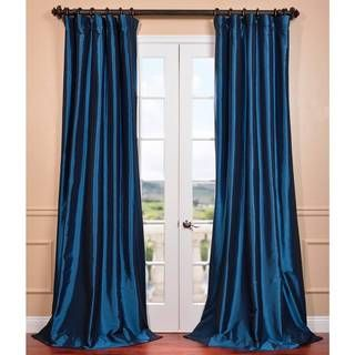 @Overstock.com   Azul Faux Silk Taffeta Pole Top Curtain Panel   These Solid