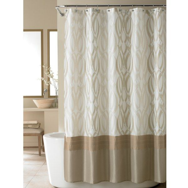 Nicole Miller Golden Rule Fabric Shower Curtain Bed Bath