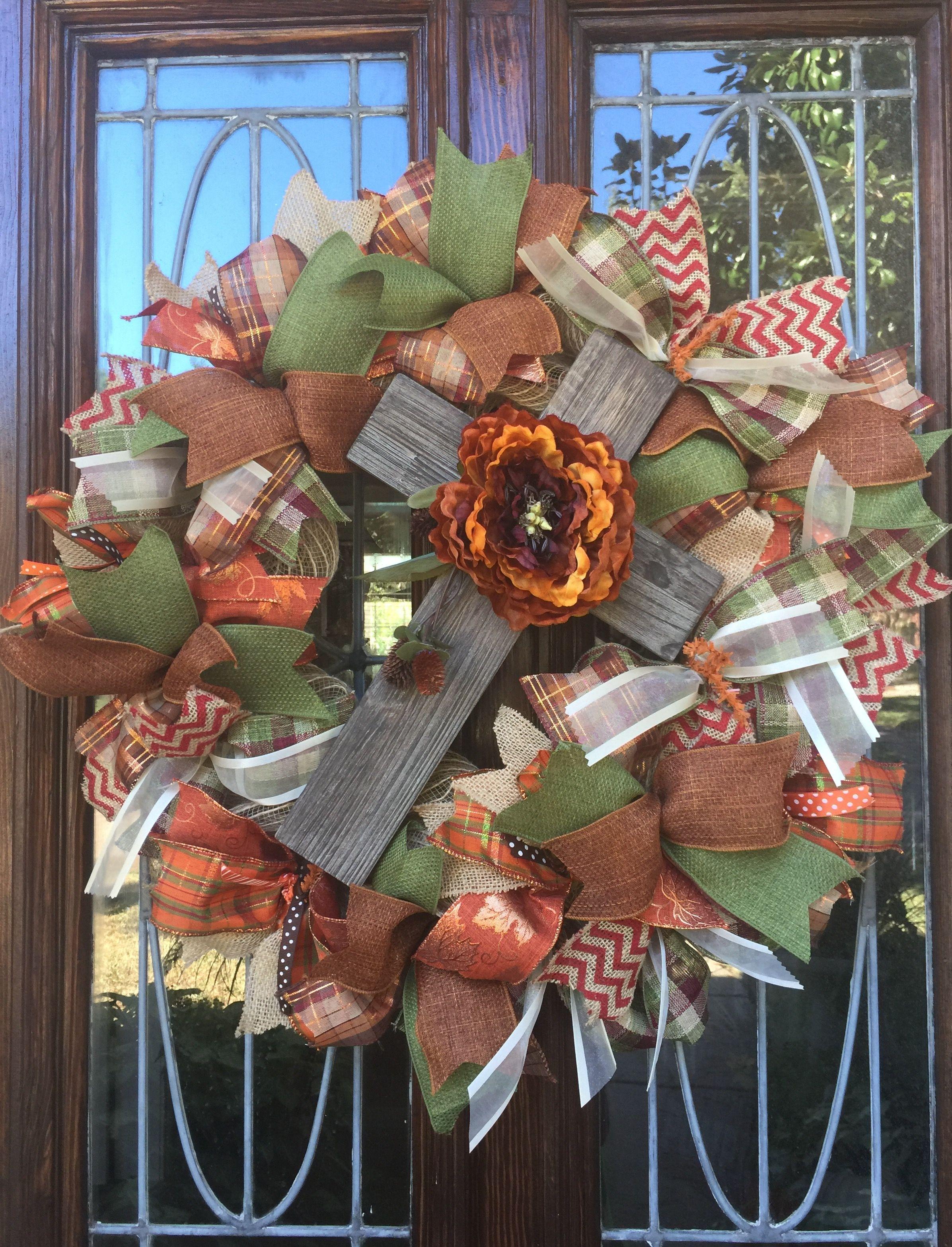 Fall Cross Wreath