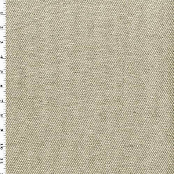 Natural White/Taupe Linen Twill Home Decorating Fabric ...
