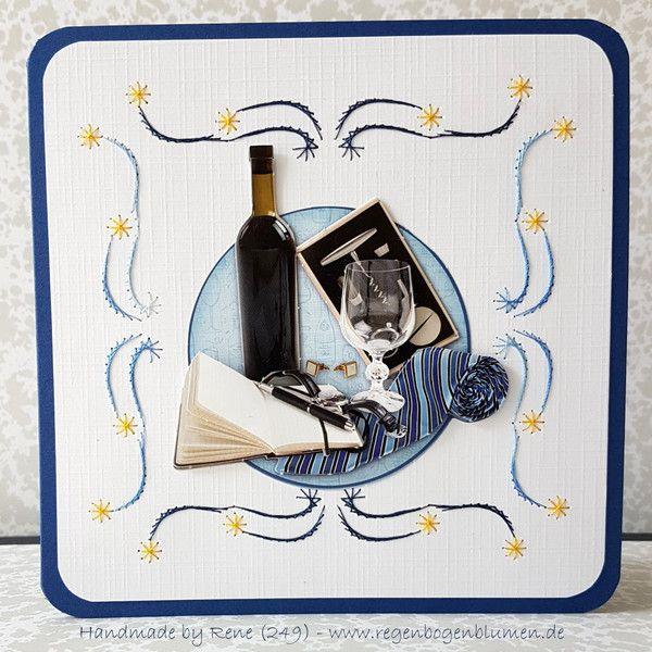 Geburtstag Fadengrafik Grusskarten Set 251 Manner Karte Ein