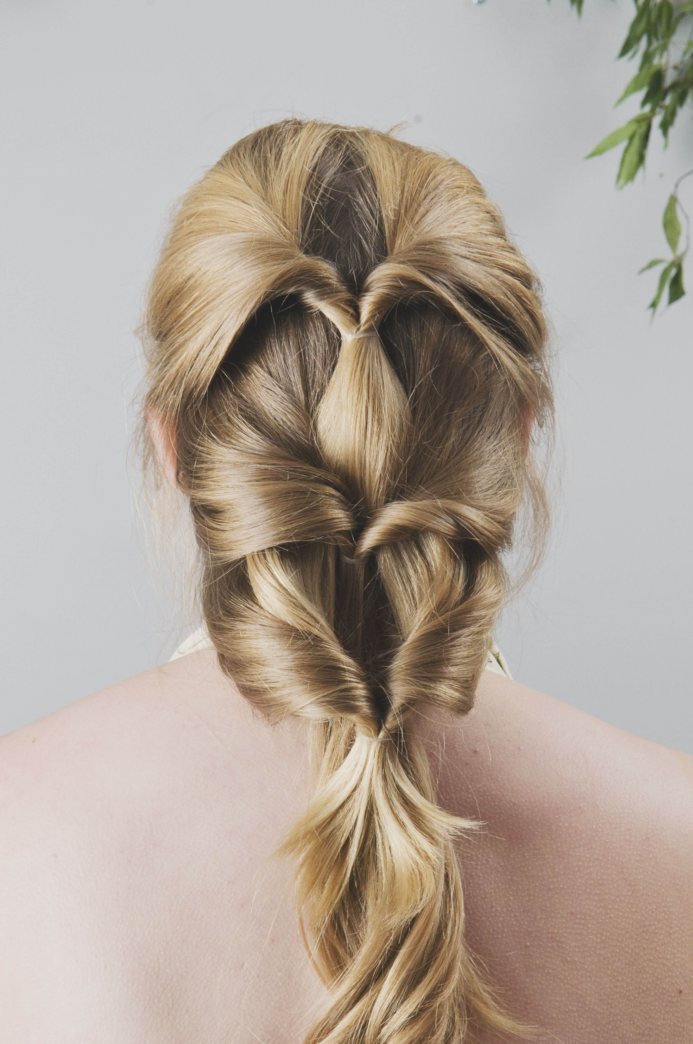 looped French ponytail. layered ponytails. | Hairstyle, Bride makeup, Hair makeup