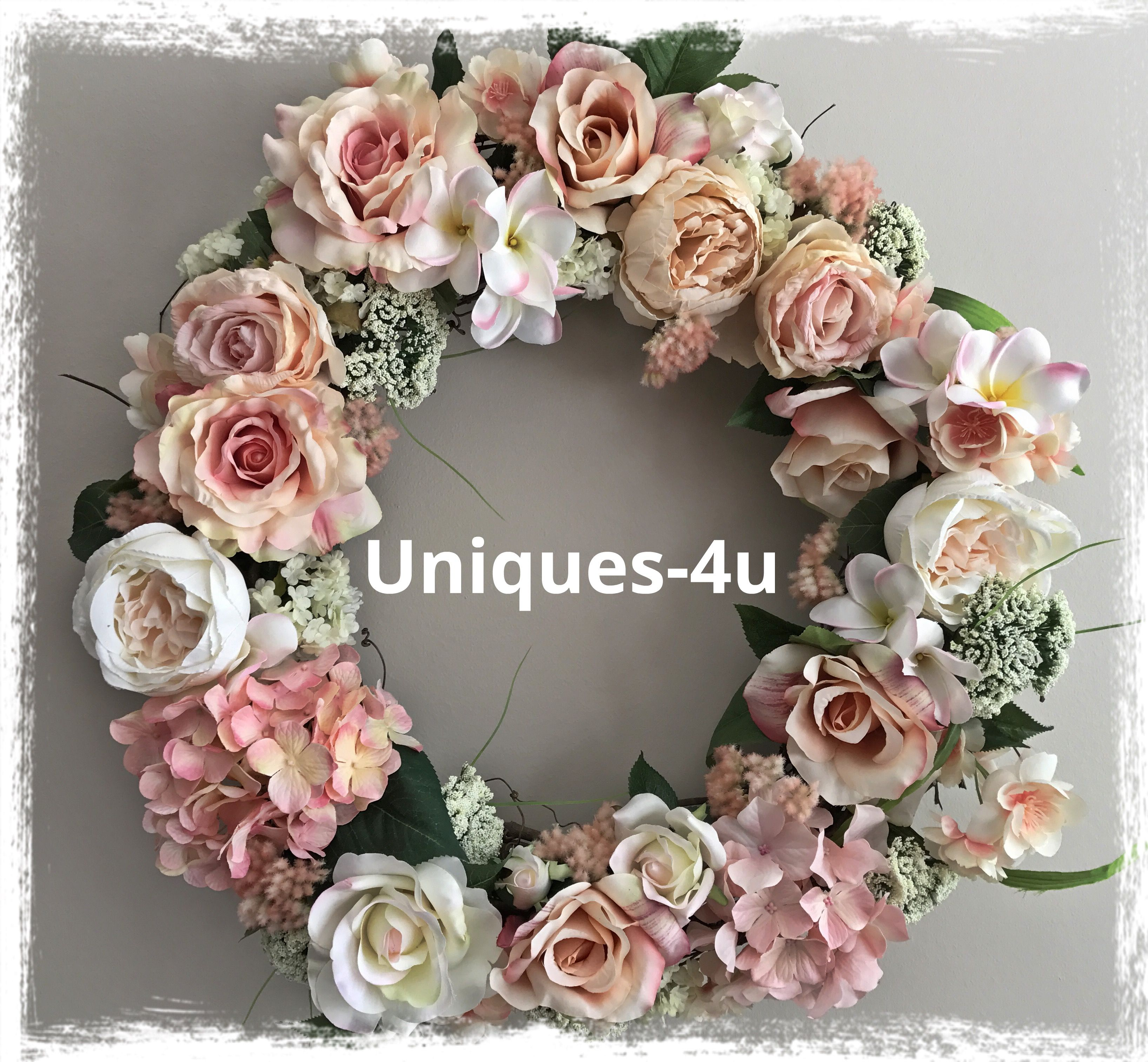 Romantic Wreath 21 Inches Grapevine Base Full Of Silk Flowers Wreaths Floral Wreath Silk Flowers