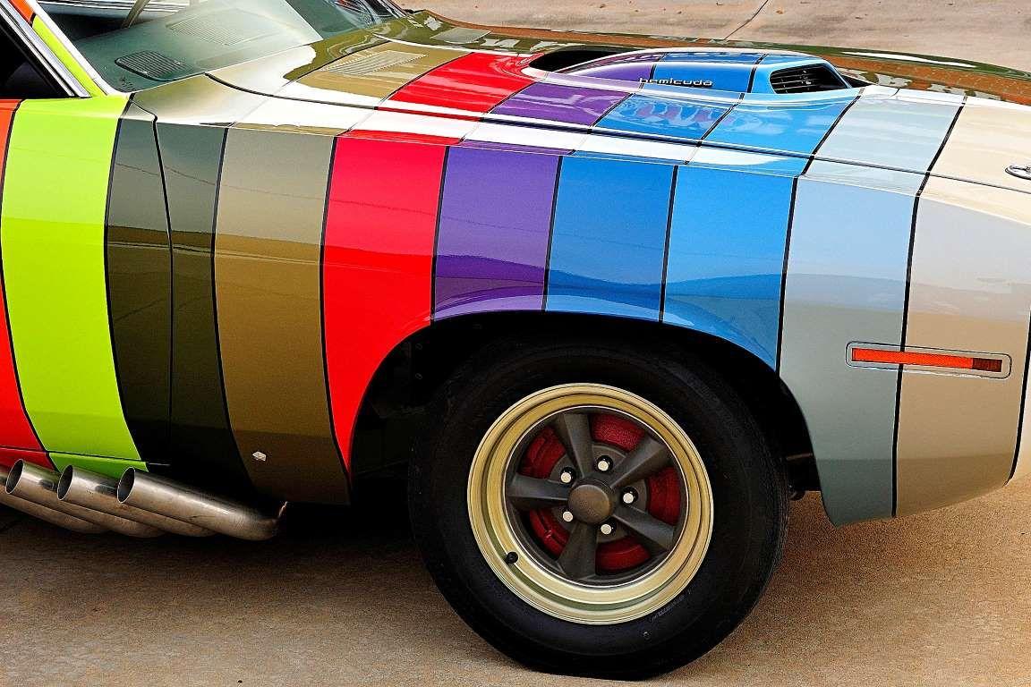 Rainbow Cuda Plymouth Cuda Classic Cars Trucks Hot Rods Plymouth Barracuda