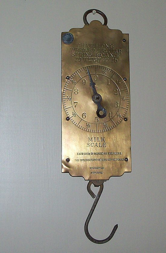 Roll over Large image to magnify, click Large image to zoom  Roll over Large image to magnify, click Large image to zoom  Roll over Large image to magnify, click Large image to zoom  This is a handsome Brass Hanging Scale from the Chatillon Company of New York ... Chatillon's Improved Circular Spring Balance to Weigh 30