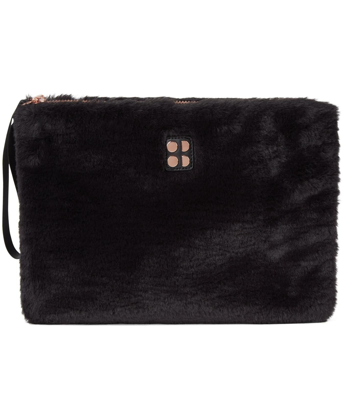 Fur Clutch Bag Black Women S Bags Sweaty Betty