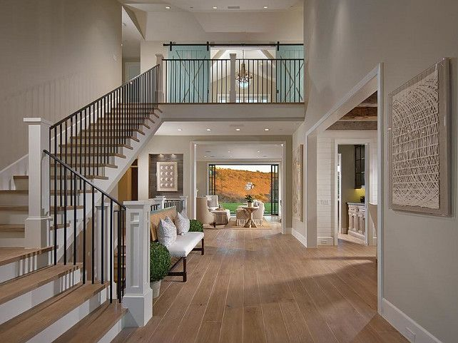 Foyer Home Office : Stunning home foyer designs foyers barn doors and