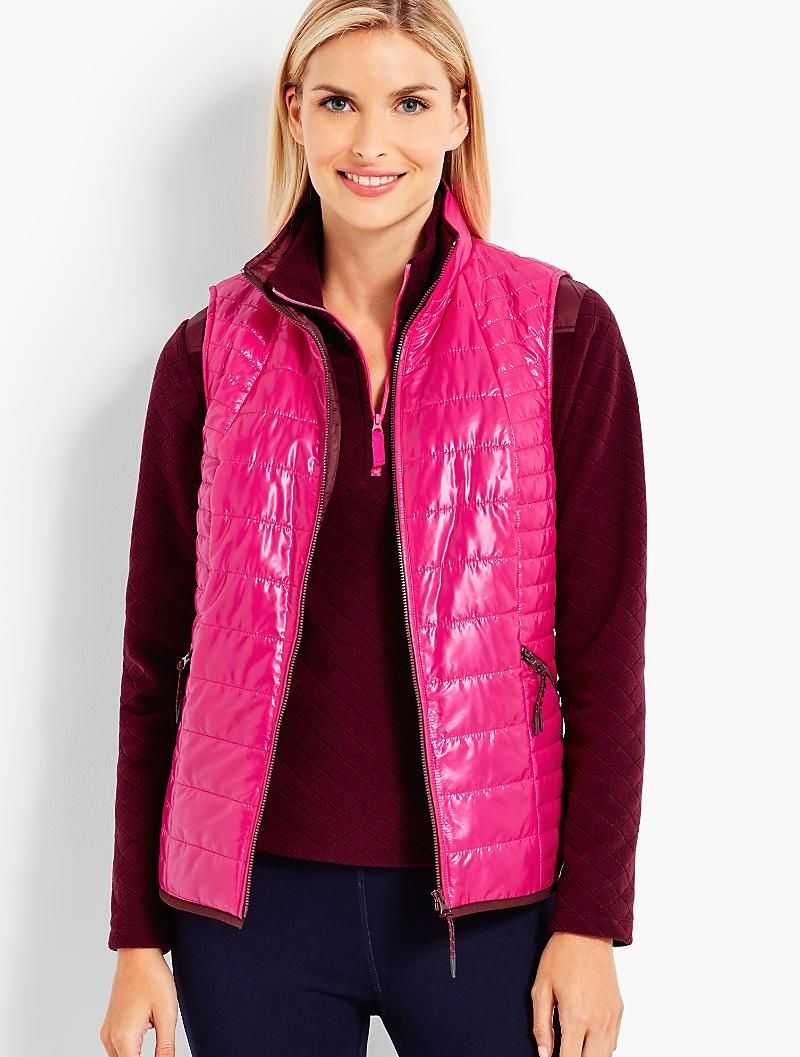 Quilted Cire Primaloft R Vest Talbots Coats For Women Bold Jackets Outerwear Jackets [ 1057 x 800 Pixel ]