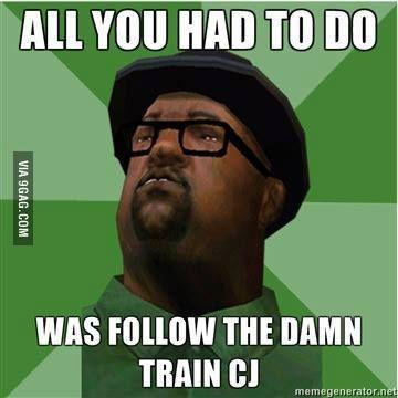 fbad413ad9  CJ  GTA  SA  IV  V  PS2  PS3  Game  Gaming  Train  San  Andreas  Funny