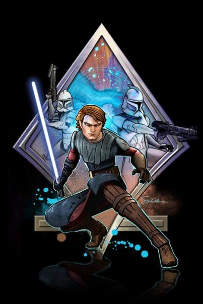 Star Wars The Clone Wars Art Wallpaper Poster Of Anakin Skywalker With Clones Star Wars Images Star Wars Star Wars Clone Wars